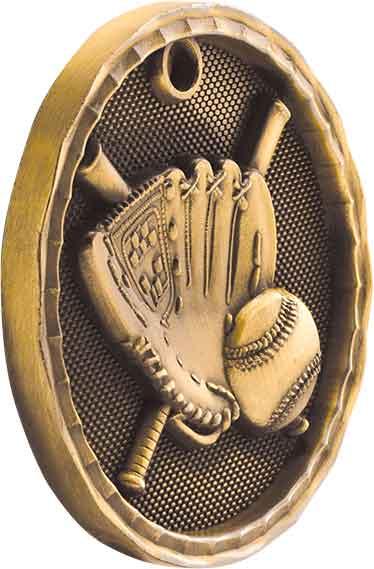 """2"""" 3D Baseball/Softball Medal 26"""
