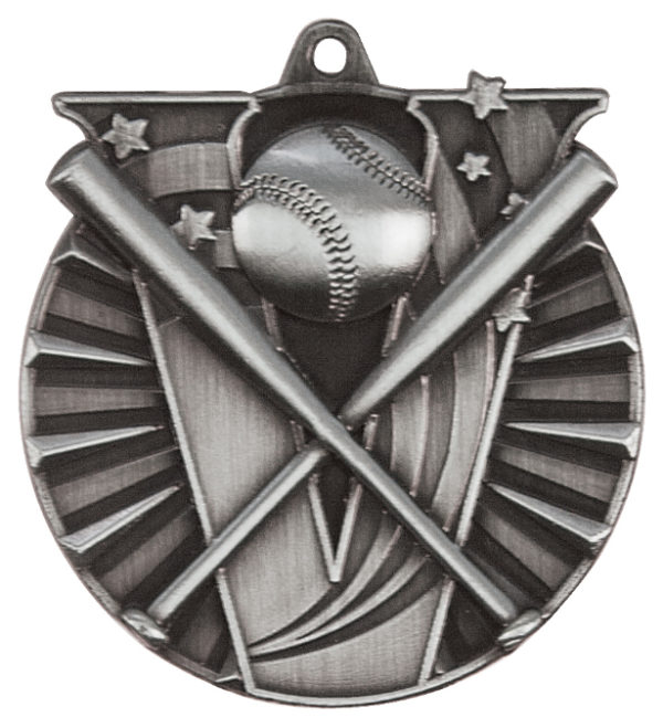 "2"" 3D Baseball/Softball Medal (Copy) - Antique Gold 2"