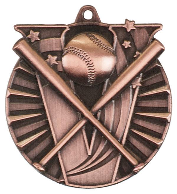 "2"" 3D Baseball/Softball Medal (Copy) - Antique Gold"