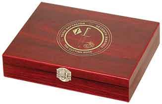 6 oz. Flask in Wood Presentation Box