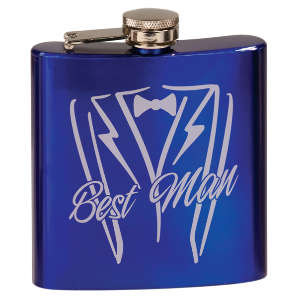 6 oz. Gloss Stainless Steel Flask 1