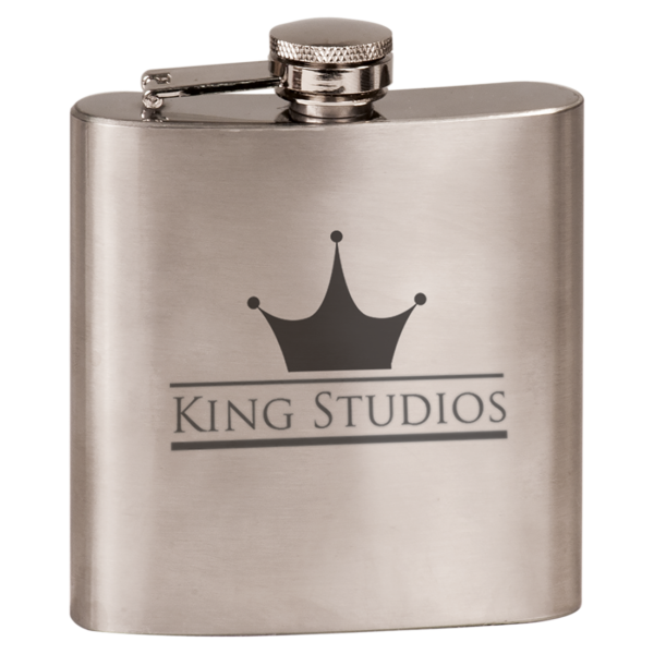 6 oz. Gloss Stainless Steel Flask 2