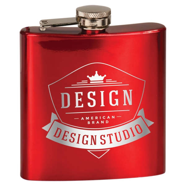 6 oz. Gloss Stainless Steel Flask