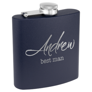 6 oz. Matte Powder Coated Stainless Steel Flask 8