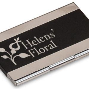 Laserable Business Card Holder - Black